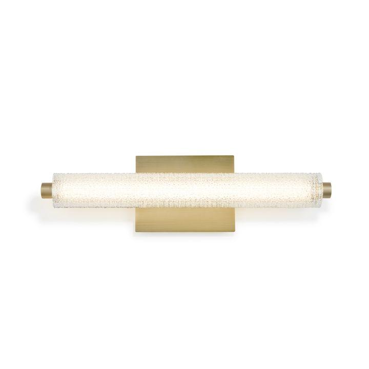 "Ronan 20"" Textured Glass LED Vanity Light, Aged Brass"