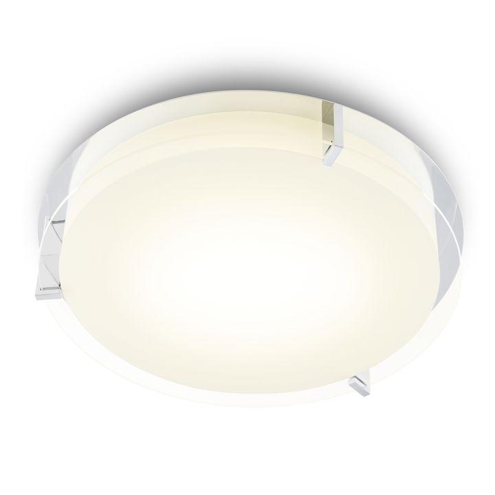 "Atlas 16"" Round LED Flush Mount, Chrome"
