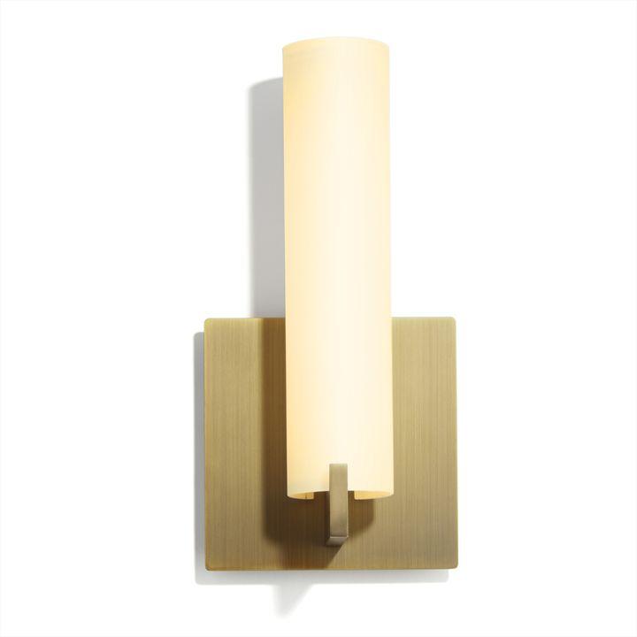 "Lights.com | Wall Lights | Wall Sconces | Atlas 11"" LED ... on Aged Brass Wall Sconce id=77471"