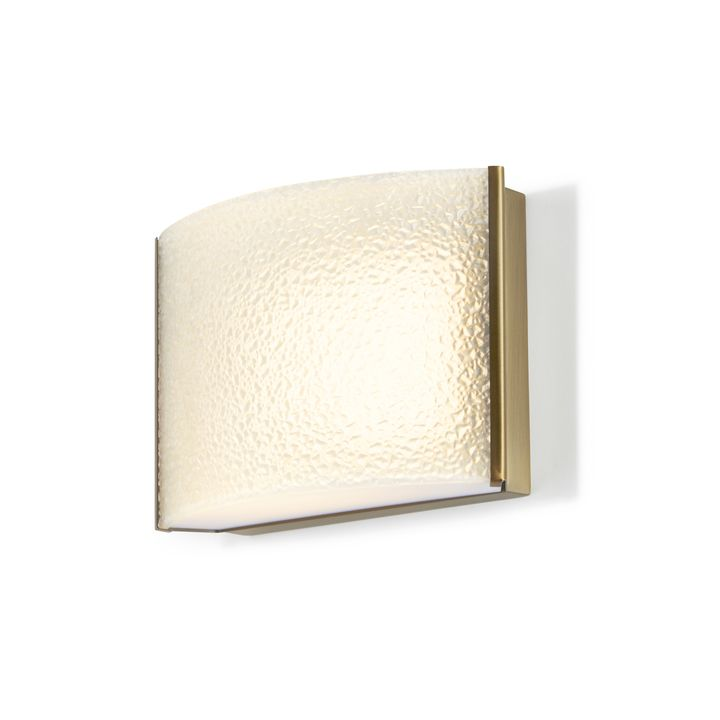 Sloane Textured Glass LED Sconce, Aged Brass