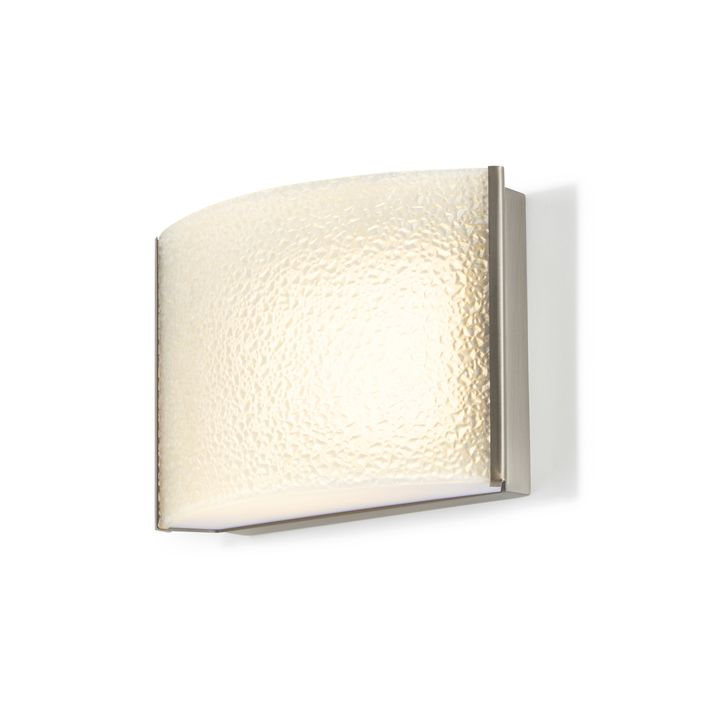 Sloane Textured Glass LED Sconce, Satin Nickel