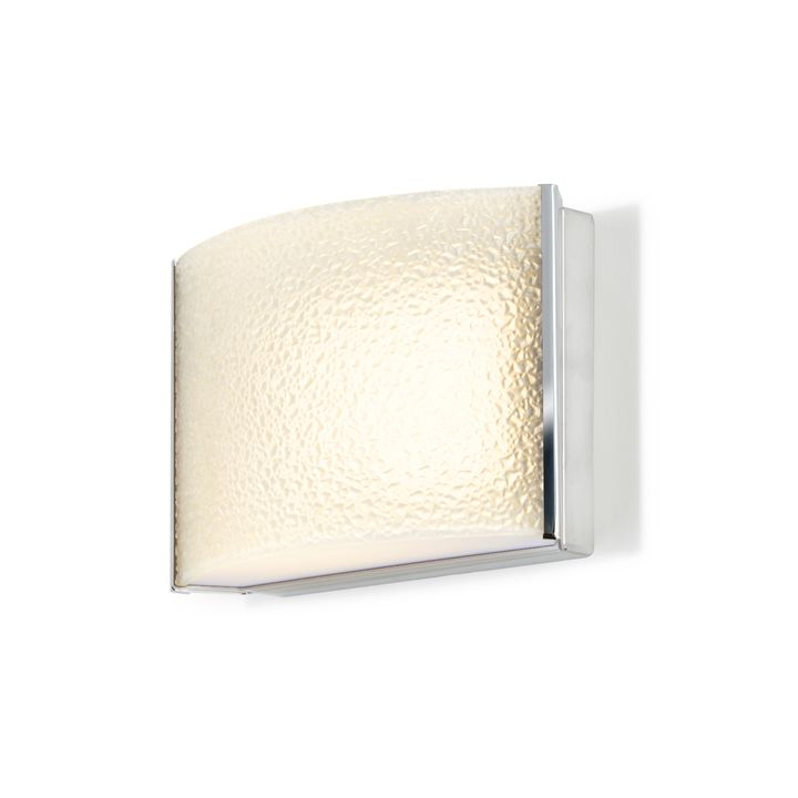 Sloane Textured Glass LED Sconce, Chrome