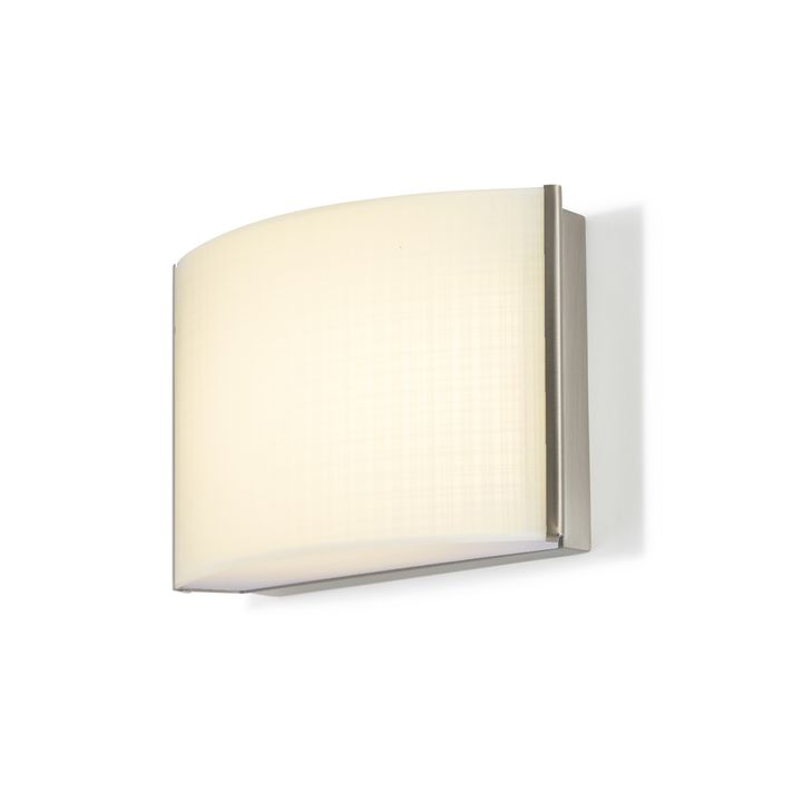 Sloane Linen Glass LED Sconce, Satin Nickel