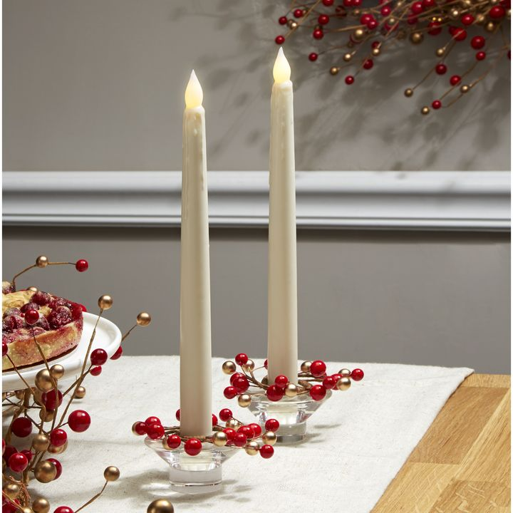 Lights.com | Decor | Candle Holders | Holiday Berry Taper ...