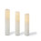 Closeout Touchstone Double LED Melted-Edge Slim Wax Flameless Pillar Candles, Set of 3