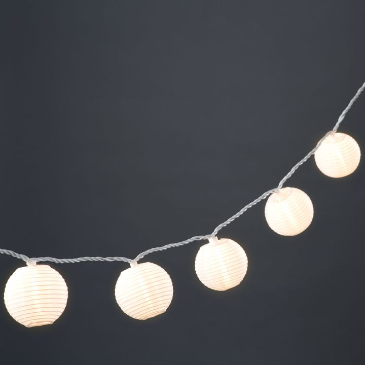 "White 3"" Lantern String Lights, Strand of 20"