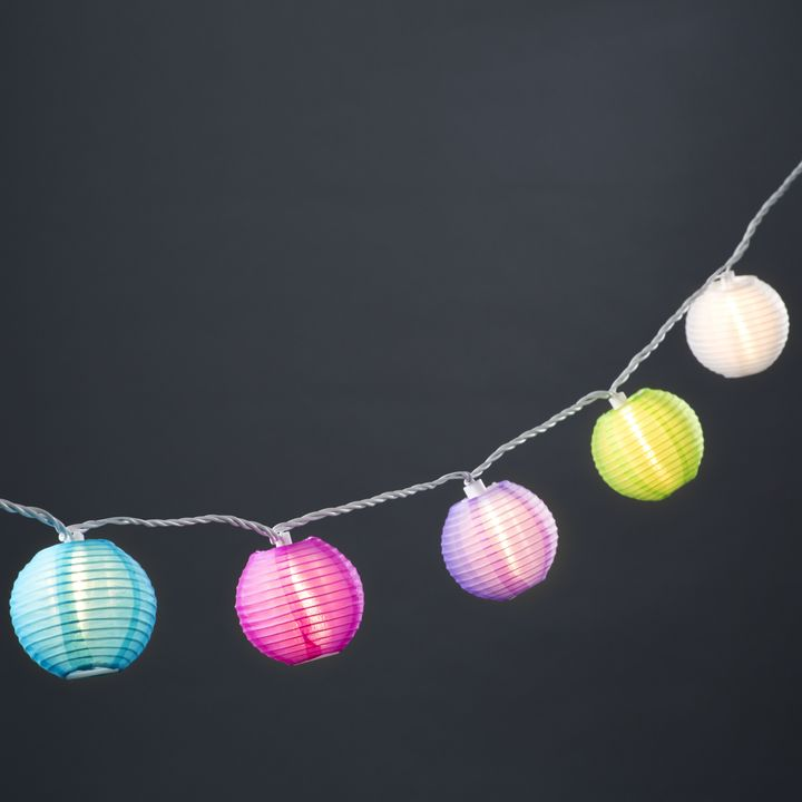 Multicolor 3 Lantern String Lights Strand Of 20