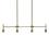 Prospect 4-Light Linear Pendant, Aged Brass