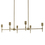 Prospect 6-Light Linear Chandelier, Aged Brass