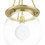 Regent Aged Brass Clear Globe Pendant