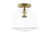 Alton Flush Mount with Schoolhouse Glass, Aged Brass
