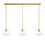 3-Light Rectangle Canopy with Alton Pendants, Schoolhouse Glass and Rod Sets, Aged Brass
