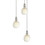 3-Light Round Canopy with 3 Alton Pendants and 3 Rod Sets, Satin Nickel