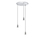 3-Light Round Canopy with 3 Alton Pendants and 3 Rod Sets, Chrome