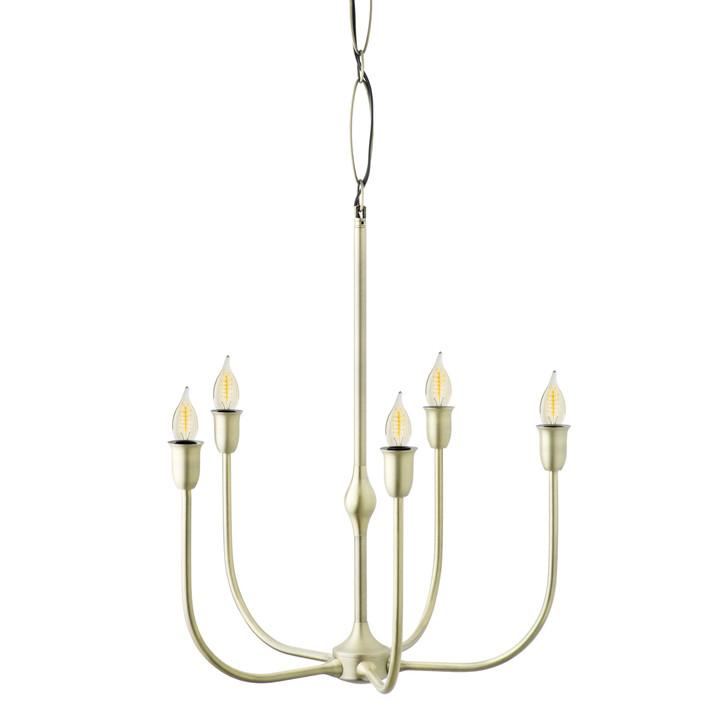 Arden 5-Light Chandelier, Aged Brass