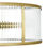 "Harper 18"" LED Round Glass Rod Flush Mount, Aged Brass"