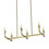 Kingston 6-Light Rectangle Chandelier, Aged Brass