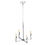 Kingston Mini 4-Light Chandelier, Polished Nickel