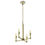 Kingston Mini 4-Light Chandelier, Aged Brass