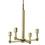 Kingston Mini 4-Light Chandelier, Aged Brass