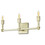 Kingston 3-Light Vanity, Aged Brass