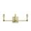 Kingston 3-Light Vanity, Aged Brass