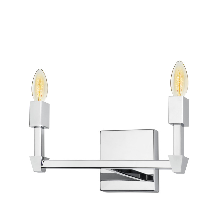 Kingston 2-Light Vanity, Polished Nickel