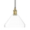 Alton Pendant with Tapered Glass, Aged Brass