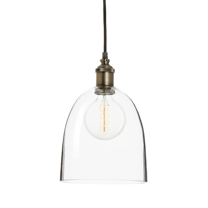 Alton Pendant Chic Dome Glass, Bronze