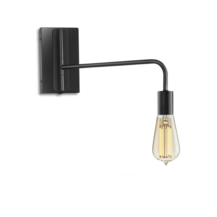 Prospect Swing Arm Wall Sconce, Matte Black