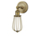 Alton Wall Sconce with Raindrop Cage, Aged Brass