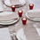 Lucida Reversible Cranberry Red Candle Holders, Set of 4