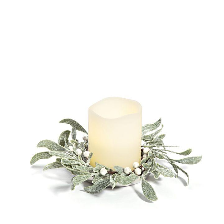 Lights.com | Decor | Candle Holders | Frosted Mistletoe ...