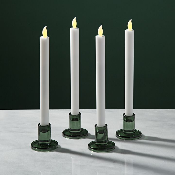 Verrea Green Taper Candle Holders, Set of 4
