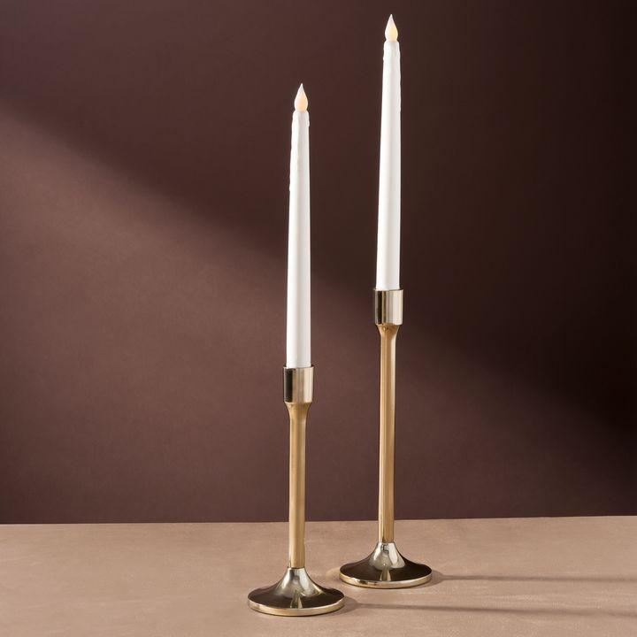 """Odette Brass Taper Candle Holder, 9"""""""