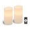 """Signature 4"""" x 8"""" White Candles, Set of Two"""