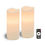 """Signature 4"""" x 10"""" White Candles, Set of Two"""