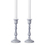 Magnolia Gray Taper Candle Holder, Medium