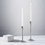 Odette Nickel Taper Candle Holder, 11""