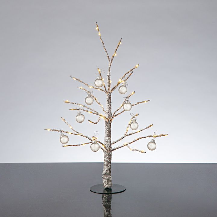 Frosted LED-Wrapped Wintry Tree, 18