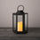 Rigel Hexagonal Metal Lantern with Solar LED Candle, Medium