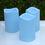 Blue Outdoor Flameless Pillar Candles, Set of 3