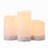 "Dionne Solar Powered Outdoor 3"" Candles, Set of 3"
