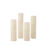 Olivia Slim Ivory Flat-Top Pillar Candles, Set of Four