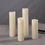 Oxanna Slim Ivory Melted-Edge  Pillar Candles, Set of 4