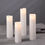 Oona Slim White Melted-Edge Pillar Candles, Set of 4