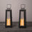Quincy Black Medium Solar Metal Lanterns, Set of 2