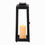 Quincy Black Large Solar Lantern with Candle