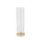 Rowe Hurricane Glass Taper Candle Holder in Brass