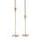 Avri Taper Candle Holder in Brass, Medium
